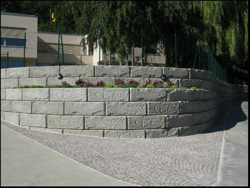 Precast Concrete Retaining Wall Blocks : Recon wall system graves concrete